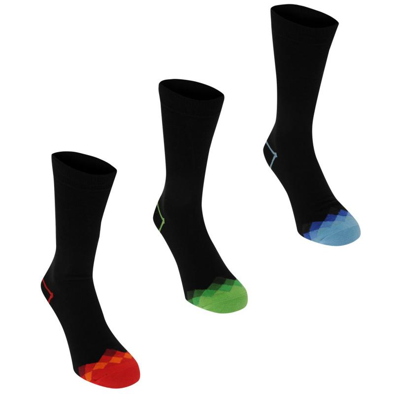 Ponožky Kangol Formal Sock 3 Pack Mens Check Toes
