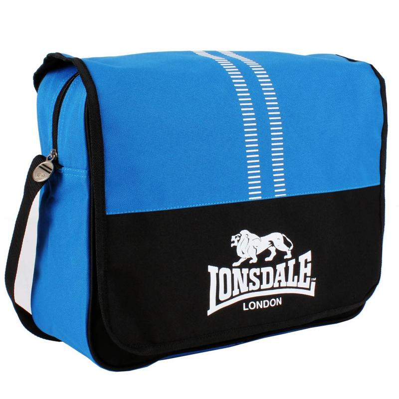 Lonsdale Messenger Bag Blue/Black