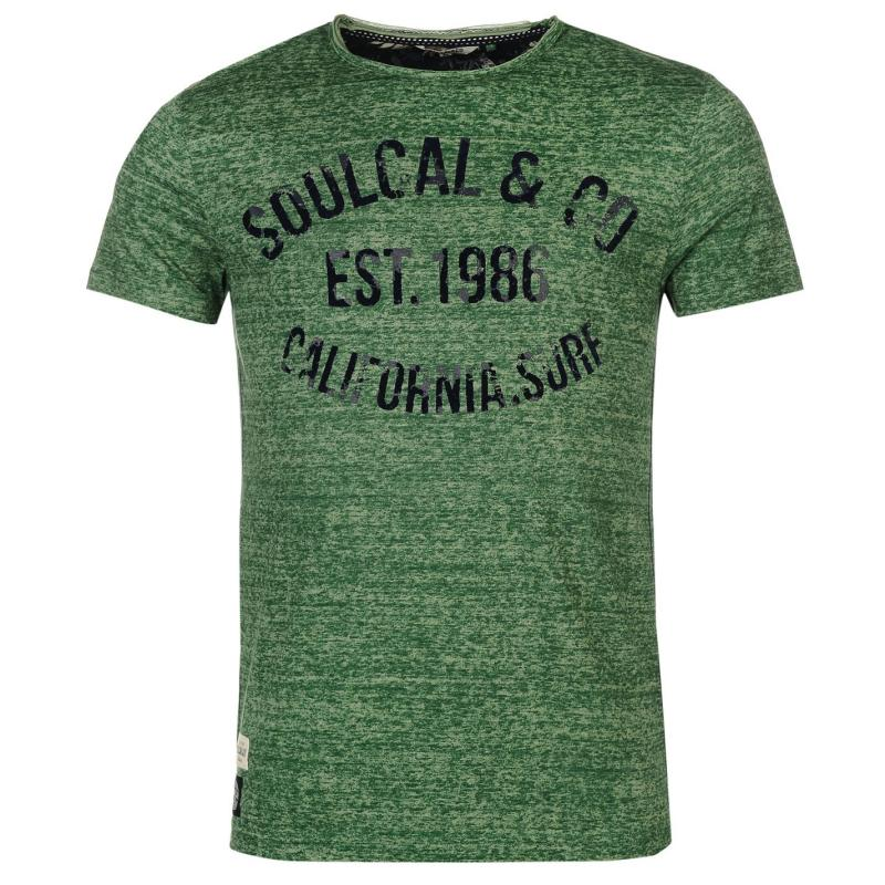 Tílko SoulCal AOP Flock T Shirt Mens Deep Green