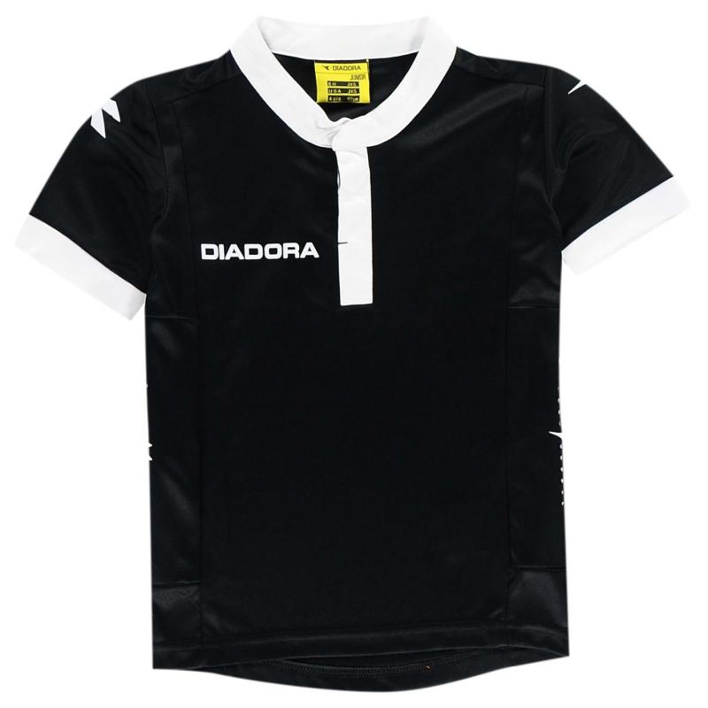 Diadora Fresno T Shirt Junior Boys Black/White