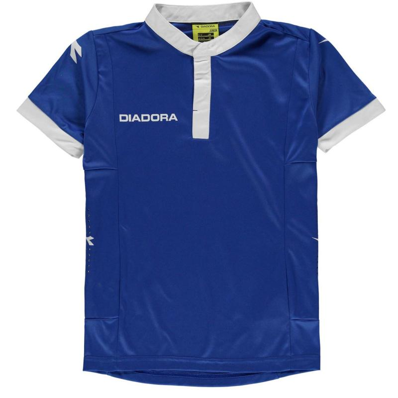 Diadora Fresno T Shirt Junior Boys Royal/White