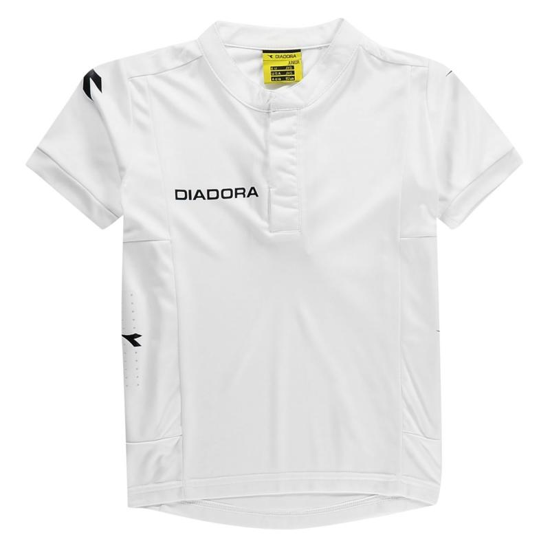 Diadora Fresno T Shirt Junior Boys White/Black