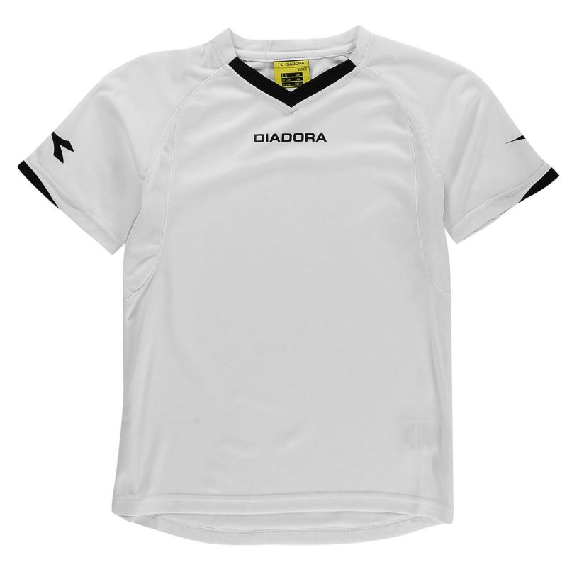 Diadora Havana T Shirt Junior Boys White/Black