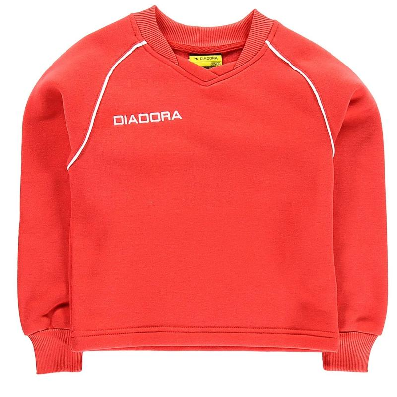 Mikina Diadora Madrid Sweater Junior Boys Red/White