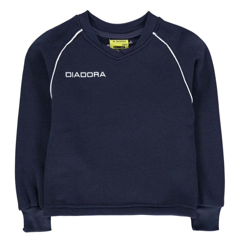Mikina Diadora Madrid Sweater Junior Boys Dark Blue