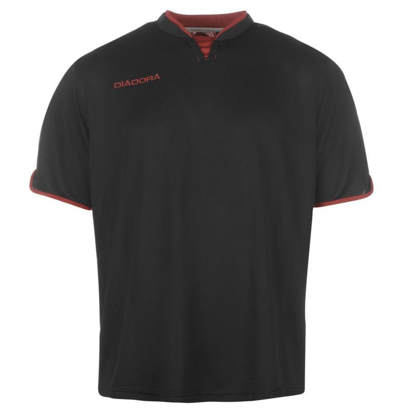 Diadora Training Jersey Mens Black/Red