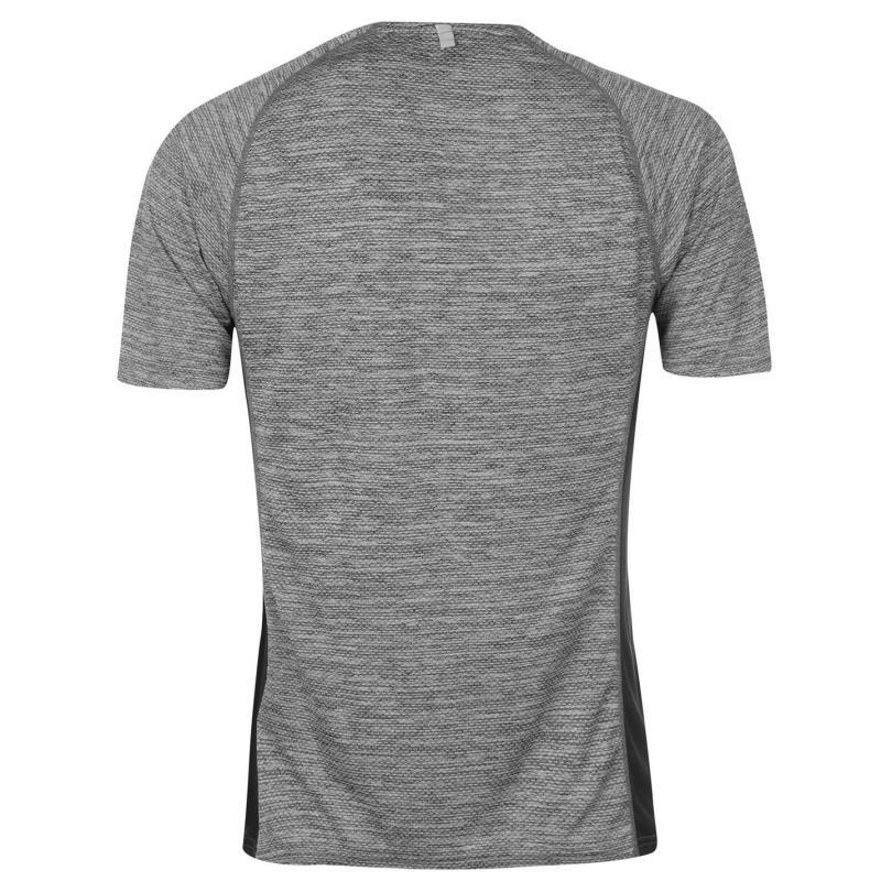Tričko Mizuno Alpha Running T Shirt Mens Black Melange