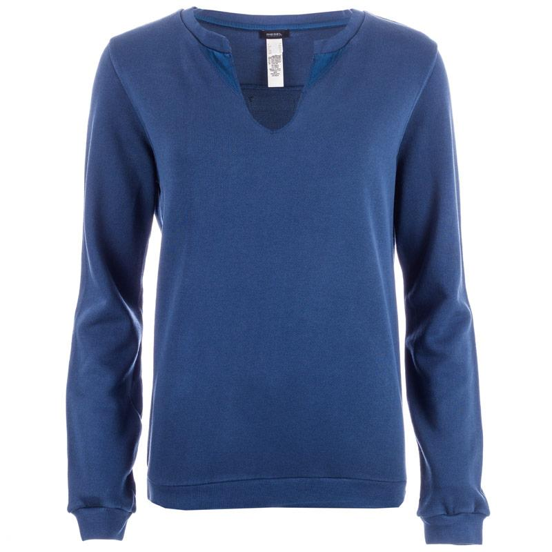 Mikina Diesel Womens Twisty Sweat Top Blue