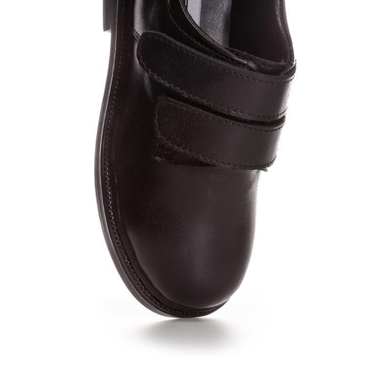 Lambretta Children Boys Velcro BTS Leather Shoe Black
