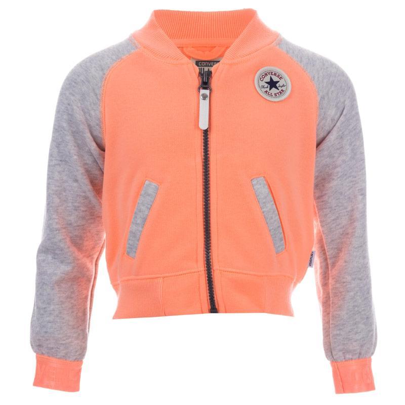 Converse Infant Girls Raglan Varsity Jacket Peach