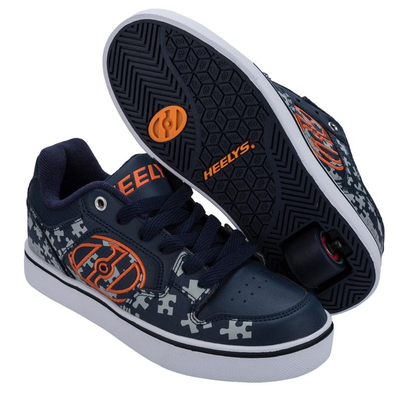 Boty Heelys Junior Boys Motion Plus Skate Shoes Navy Grey