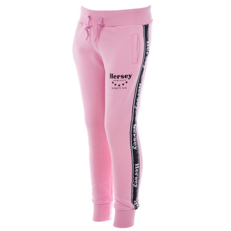 Beck And Hersey Junior Girls Logo Jog Pant Pink