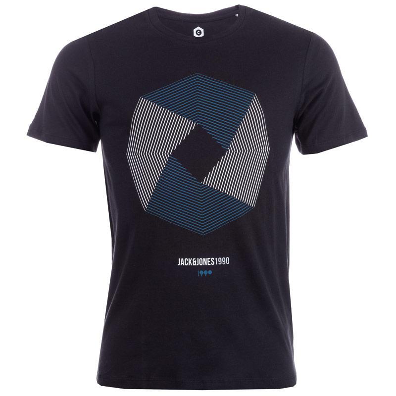 Tričko Jack Jones Mens Booster 7 T-Shirt Black