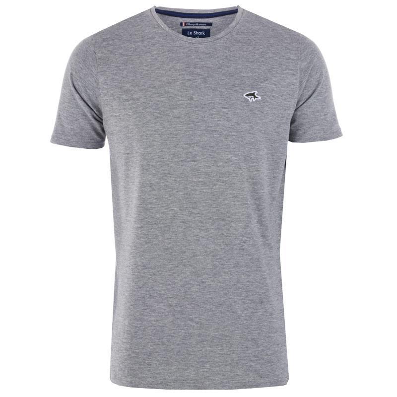 Tričko Le Shark Mens Darsham Crew T-Shirt Grey Marl
