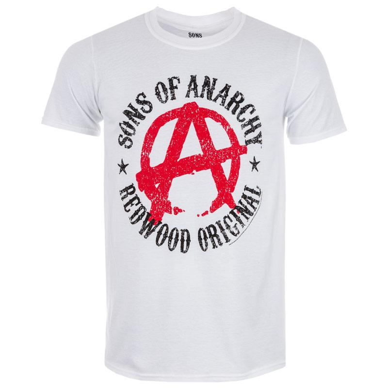 Tričko Get The Label Mens Sons Of Anarchy T-Shirts White