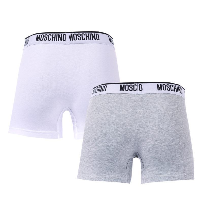 Spodní prádlo Moschino Mens 2 Pack Boxer Shorts Black