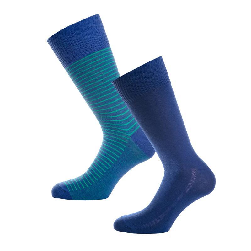 Ponožky Levis Mens 2 Pack Striped Socks Blue