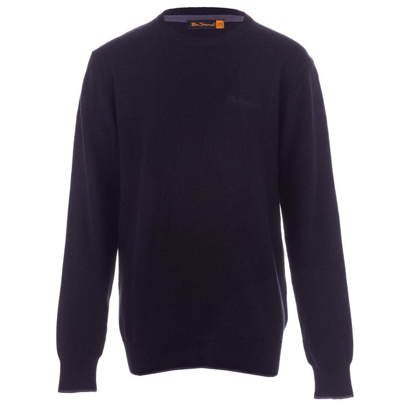Ben Sherman Infant Boys Knitted Jumper Black