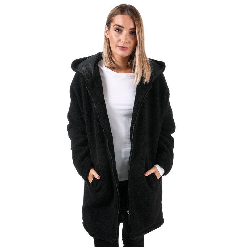 Noisy May Womens Holmes Fleece Jacket Black