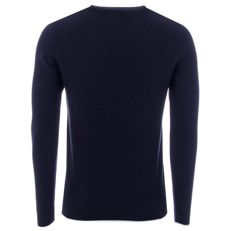 Le Shark Mens Grove Tipped Crew Neck Knit Navy