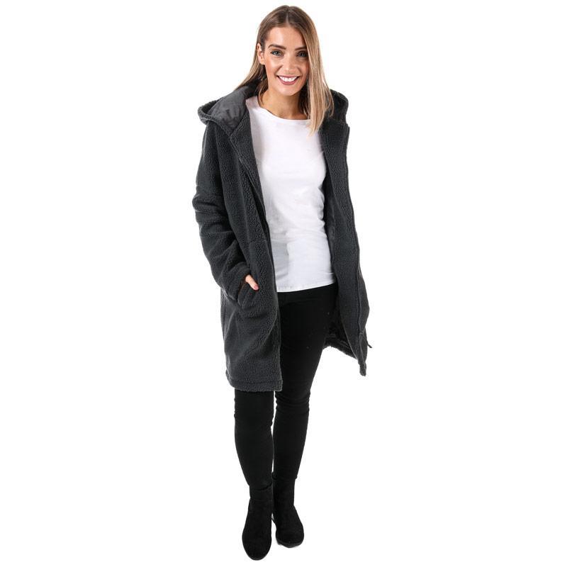 Noisy May Womens Holmes Fleece Jacket Grey