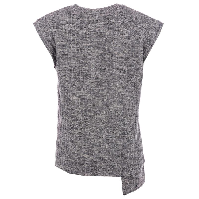 NICCE Womens Rib Longline Top Grey