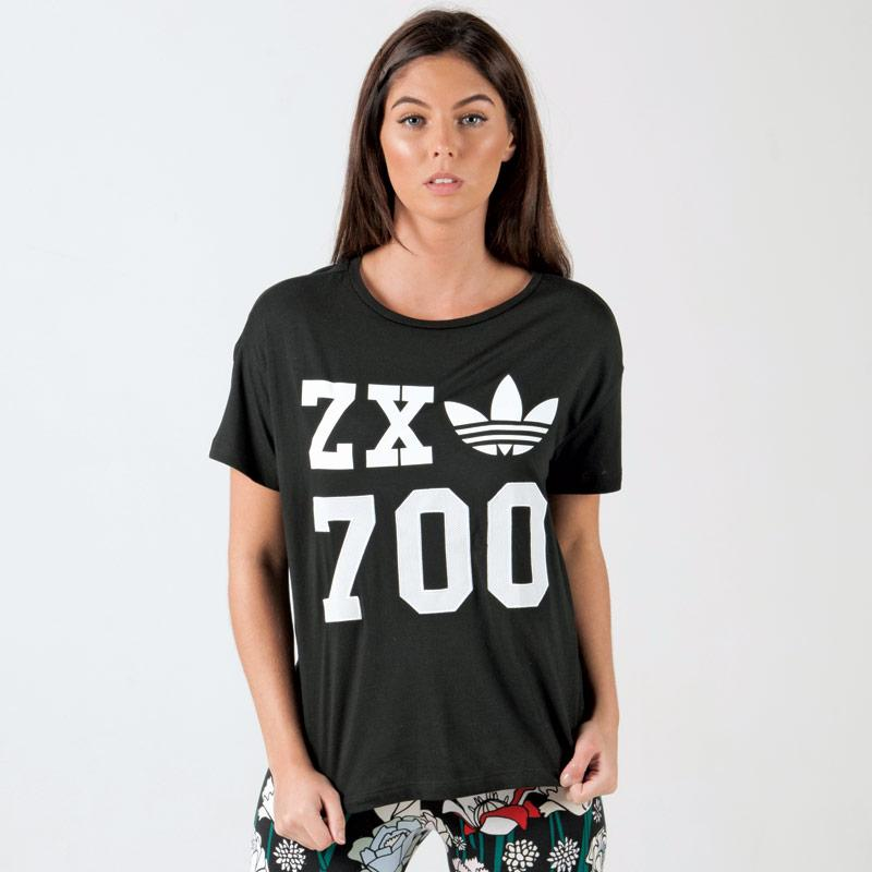 Adidas Originals Womens ZX 700 T-Shirt Black