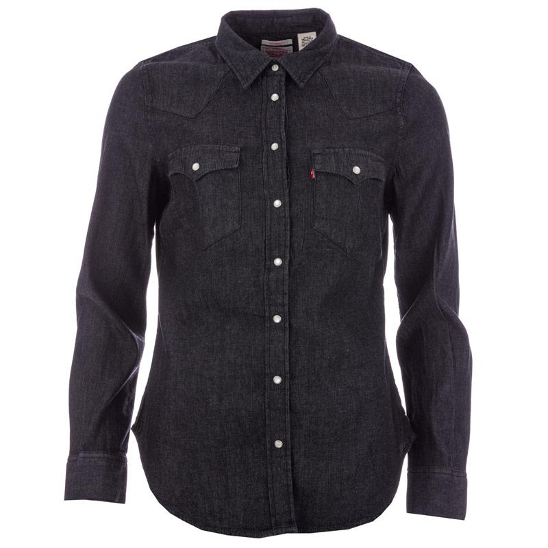 Levis Womens Tailored Classic Western Shirt Black
