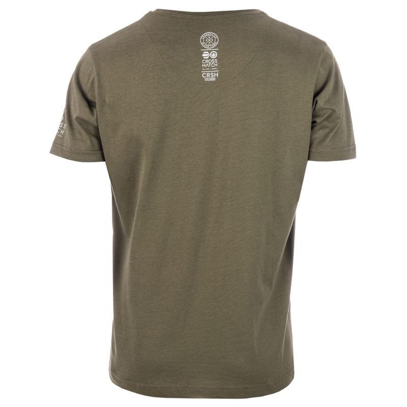 Tričko Crosshatch Mens Crisscross T-Shirt olive