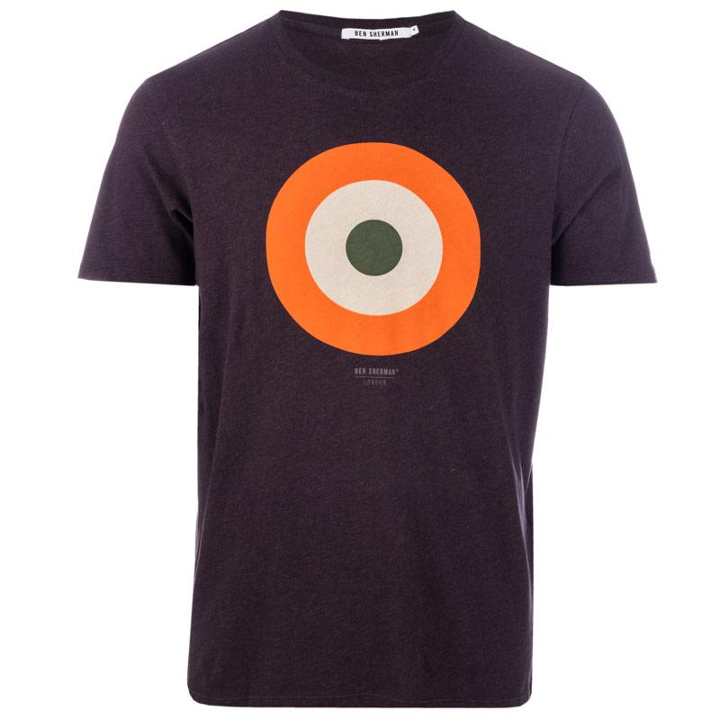 Tričko Ben Sherman Mens Target T-Shirt Chocolate