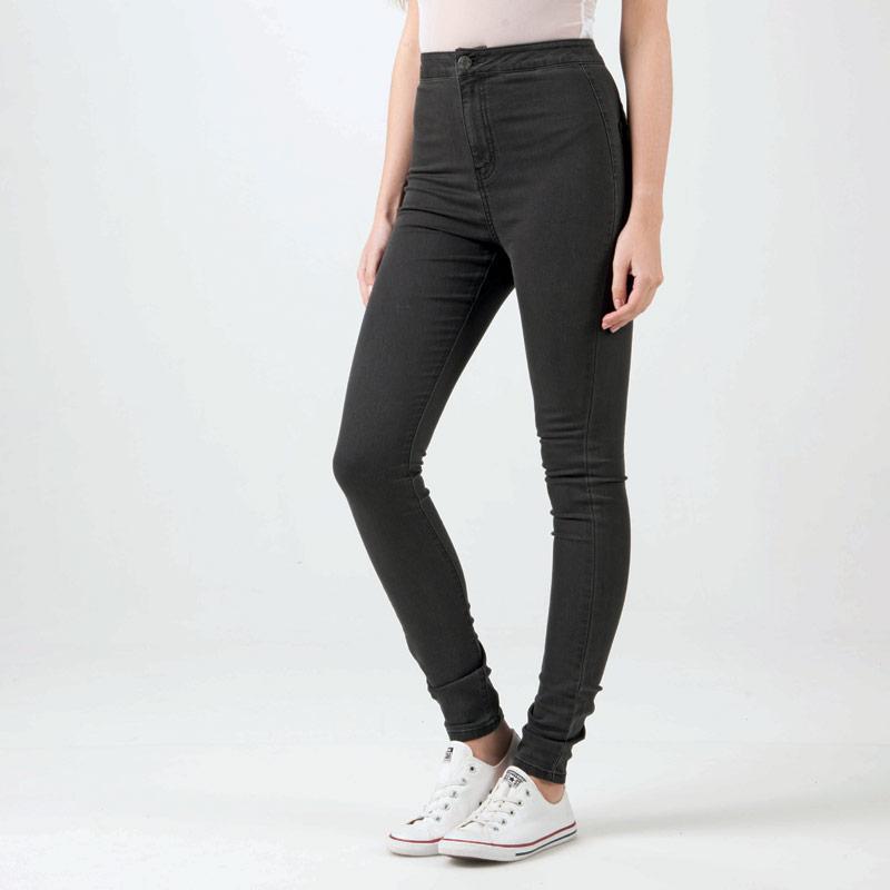 Noisy May Womens Ella Super High Waist Jeans Grey