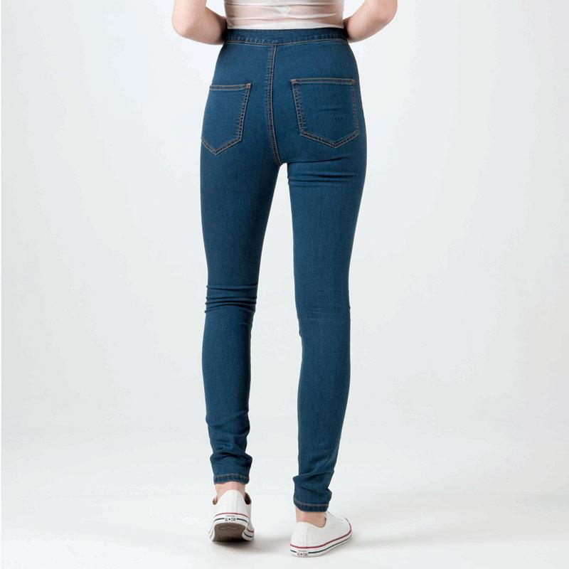 Noisy May Womens Ella Super High Waist Jeans Denim