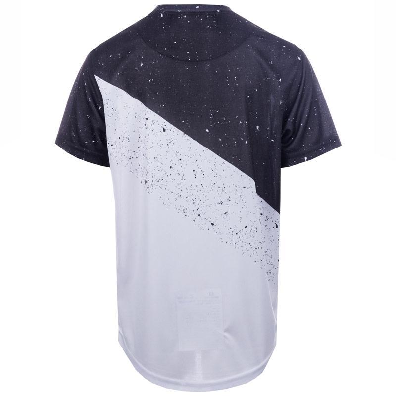 Tričko Beck And Hersey Junior Boys Diagonal Print T-Shirt White Black
