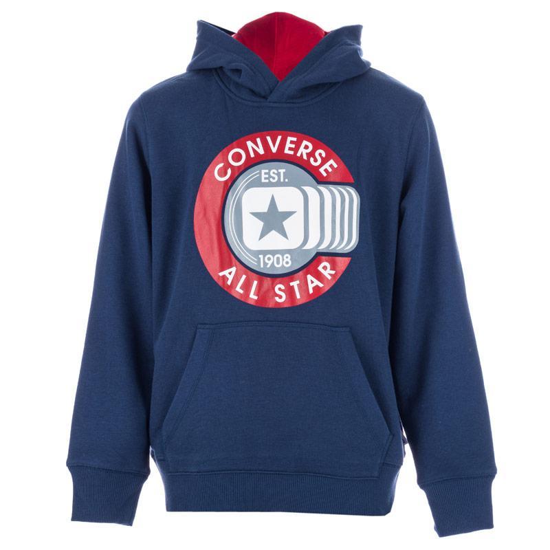 Mikina Converse Junior Boys Graphic Pull Over Hoody Navy aaaa7c63716