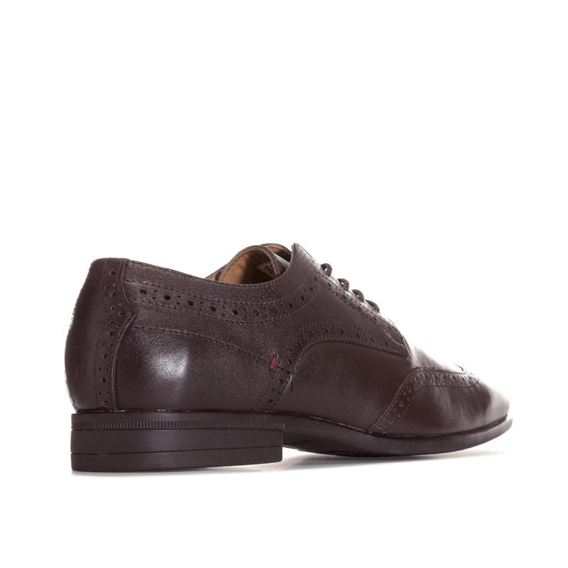 Boty Hush Puppies Mens Lamont Maxx Oxford Wing Tip Shoes Dark Brown
