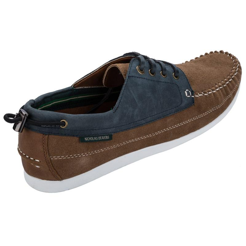 Boty Nicholas Deakins Mens Northern Soul Boating Shoe Brown
