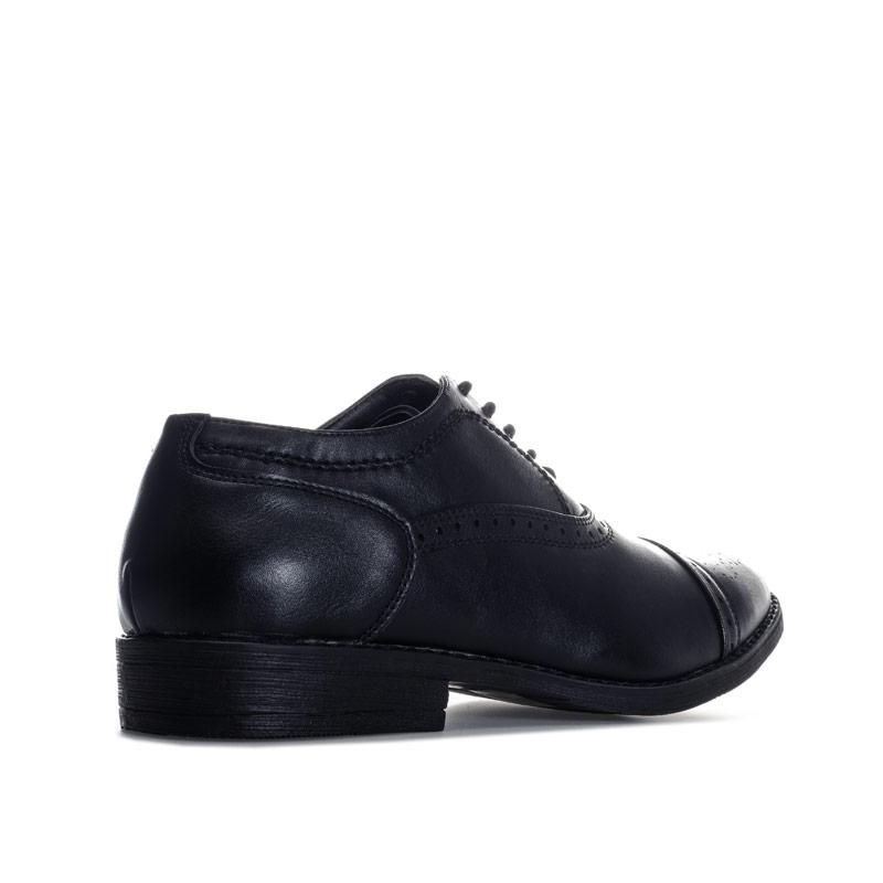 Boty Firetrap Mens Soft Slim Point Brogue Shoe Black
