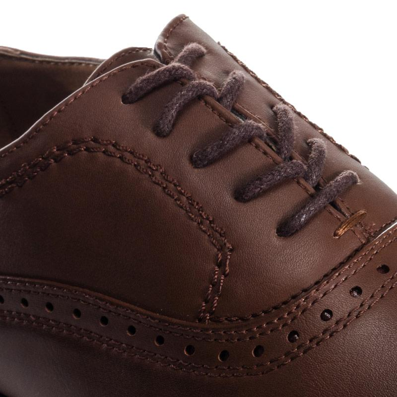 Boty Firetrap Mens Soft Slim Point Brogue Shoe Brown