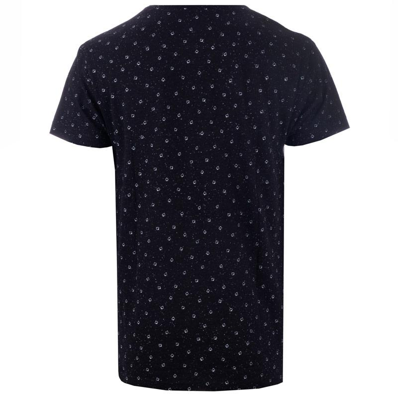 Tričko D-Struct Mens Robiscon Spade Print T-Shirt Black