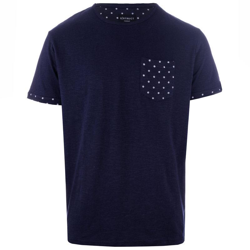 Tričko D-Struct Mens Sloperson Printed Pocket T-Shirt Stone