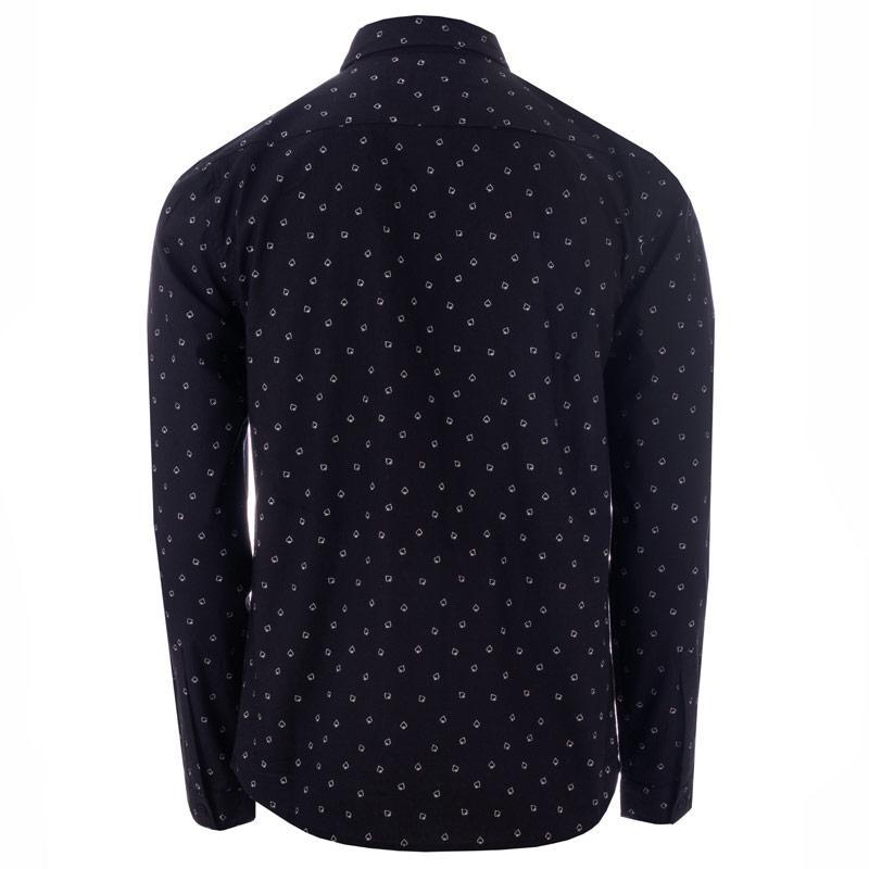 D-Struct Mens Valens Spade Print Shirt Black