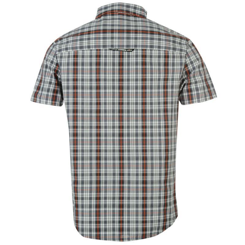 Helly Hansen Lymington Short Sleeve Shirt Mens Charcoal