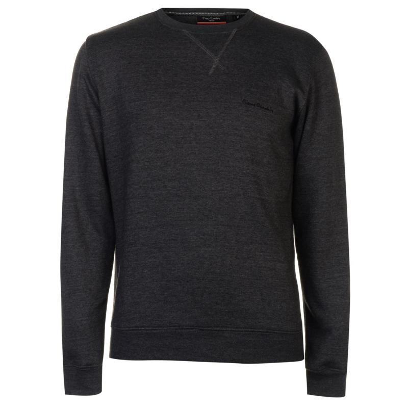 Mikina Pierre Cardin Crew Neck Fleece Sweatshirt Mens Blue