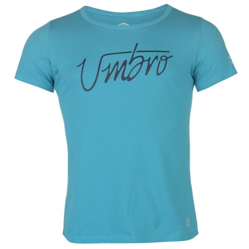 Tričko Umbro Graphic CVC T Shirt Ladie Blue