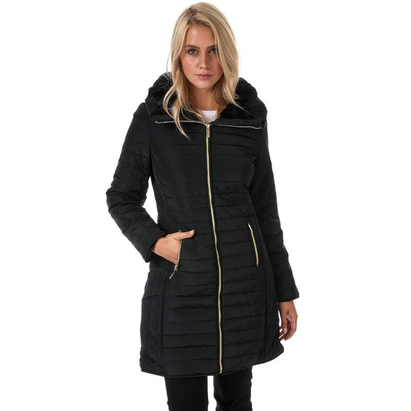 Elle Womens Florence Coat Black
