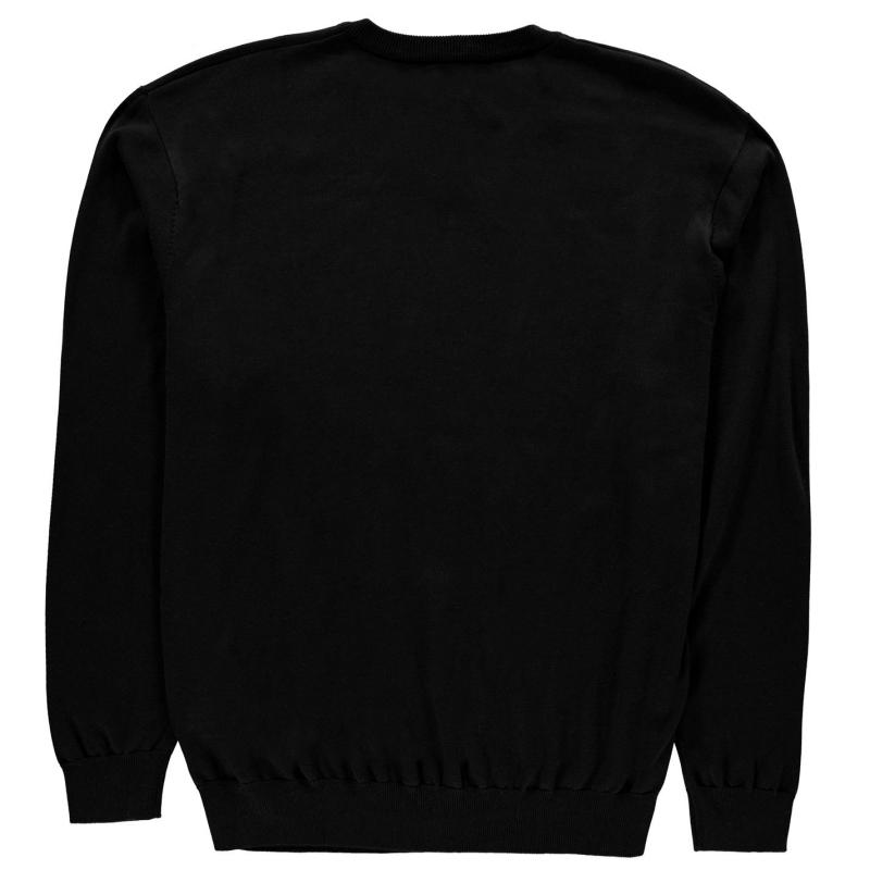 Mikina Fusion V Neck Sweatshirt Mens Black