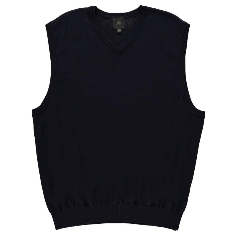 Mikina Fusion V Neck Vest Sweatshirt Mens Black