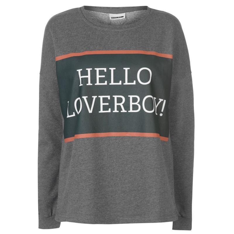 Mikina Noisy May Maeve Sweatshirt Med Grey Mel