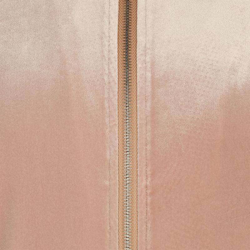Glamorous Velvet Bomber Jacket Nude Velvet