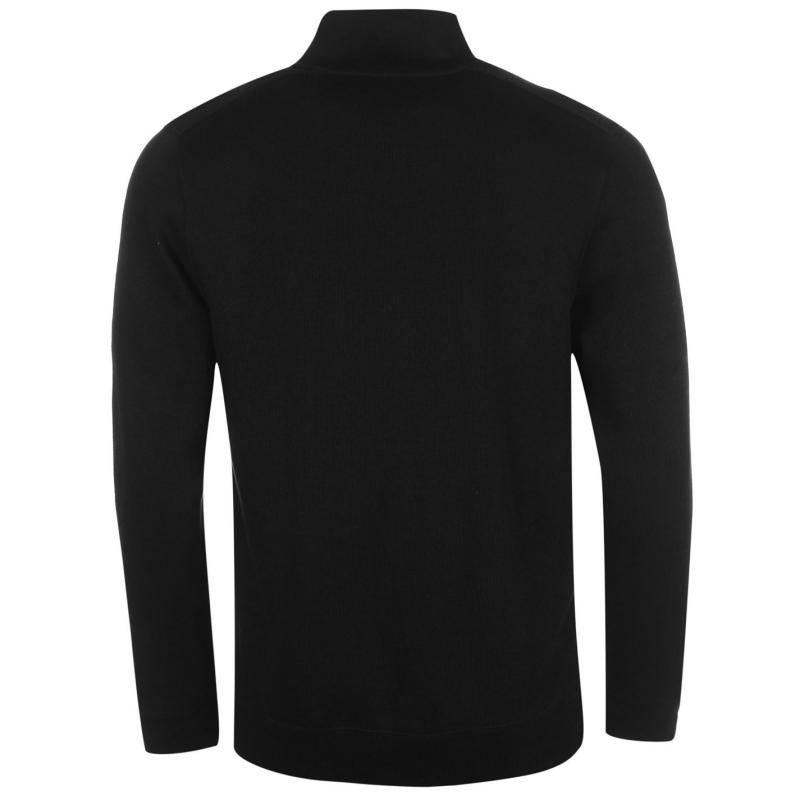 Mikina Pierre Cardin Full Zip Fabric Sweater Mens Black